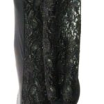 Art. 4520 Abito tubino inserti in pizzo glitterato