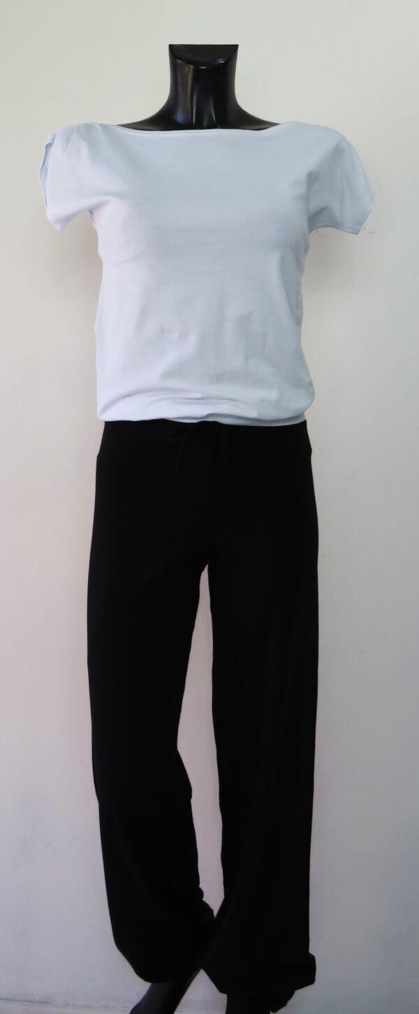 Maglia spalla arricciata 4510 e pantalone largo con coulisse 5709