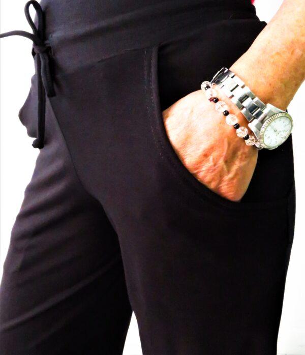 pantalone mobirdo con coulisse e tasche