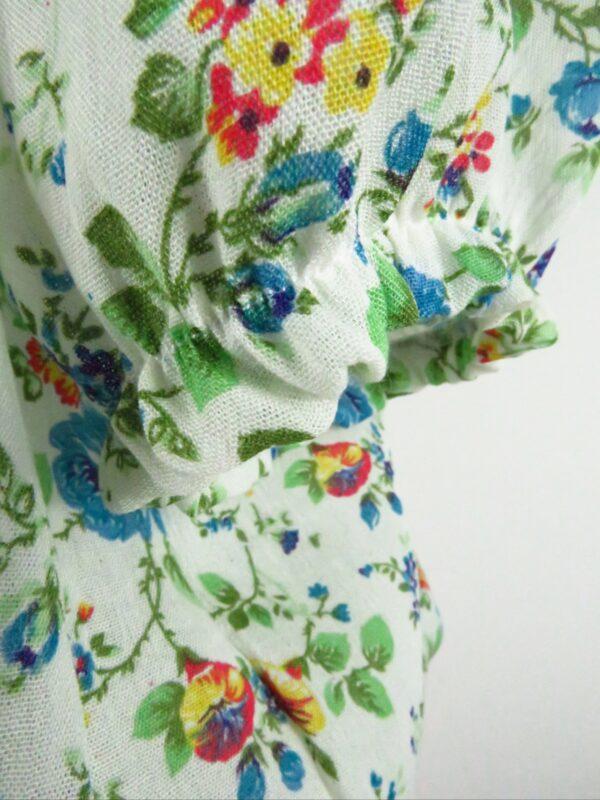 crop top in cotone con elastico